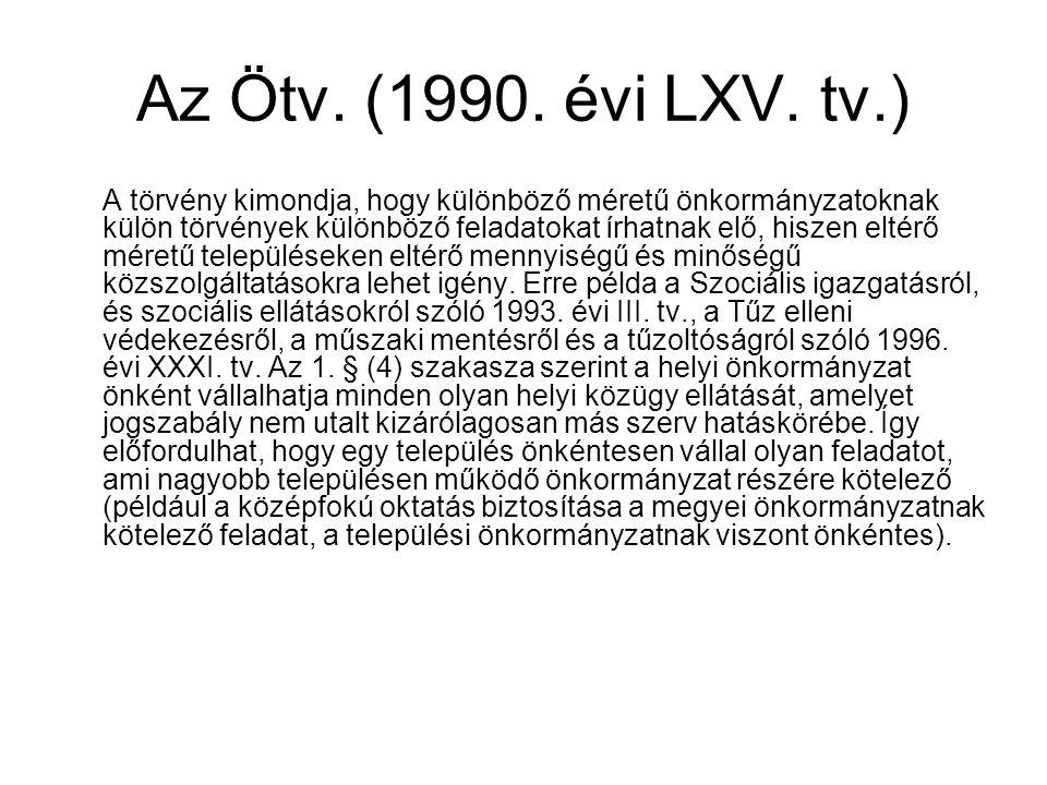 Az Ötv. (1990. évi LXV. tv.)
