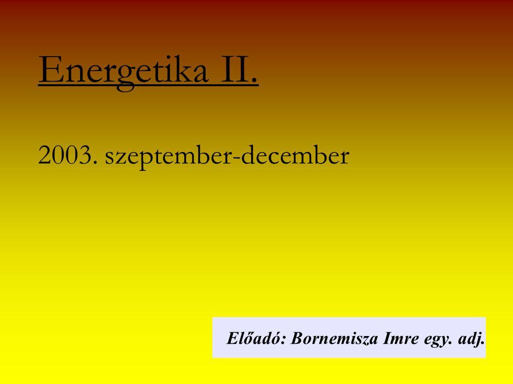 Energetika II. 2003. szeptember-december