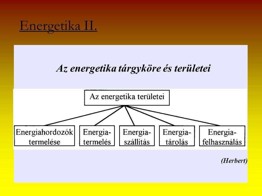 Az energetika tárgyköre és területei (Herbert)