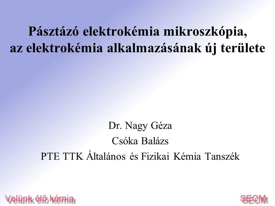 Dr. Nagy Géza Csóka Balázs PTE TTK Általános és Fizikai Kémia Tanszék