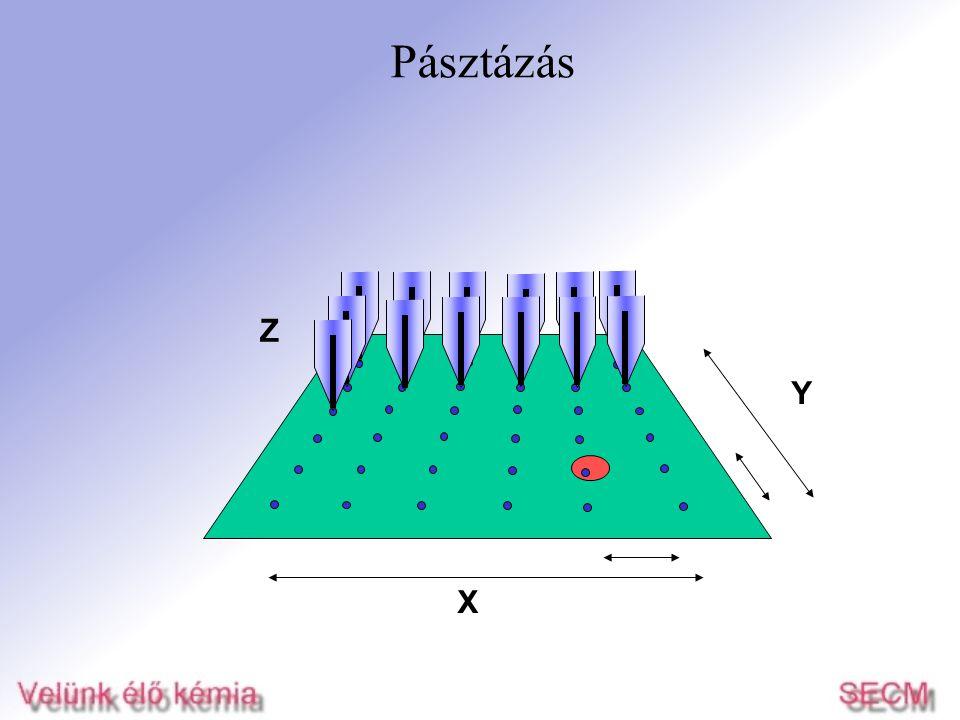 Pásztázás Z Y X