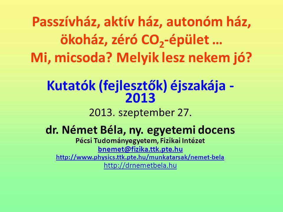 Kutatók (fejlesztők) éjszakája -2013