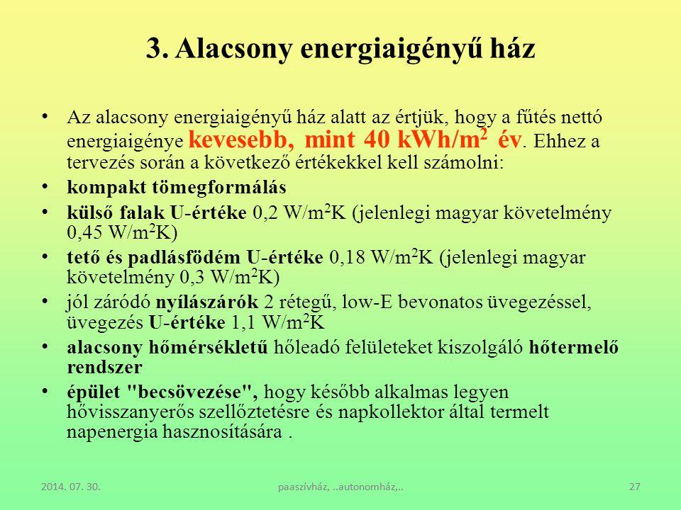 3. Alacsony energiaigényű ház