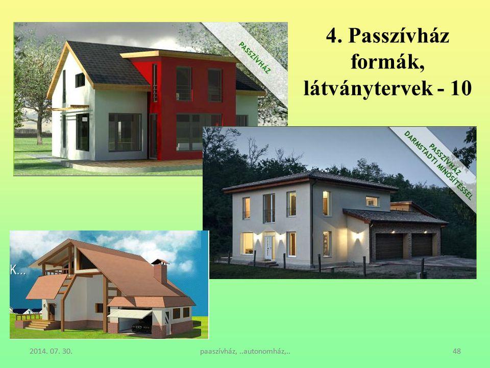 4. Passzívház formák, látványtervek - 10