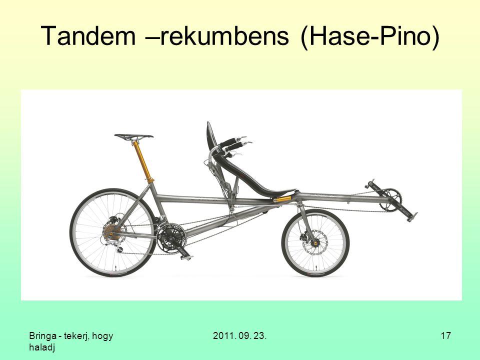 Tandem –rekumbens (Hase-Pino)