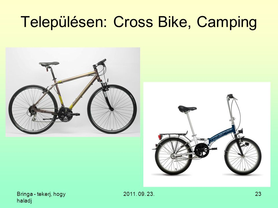 Településen: Cross Bike, Camping