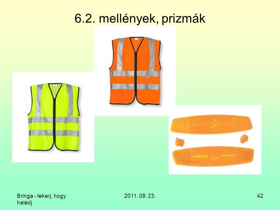 6.2. mellények, prizmák Bringa - tekerj, hogy haladj 2011. 09. 23.
