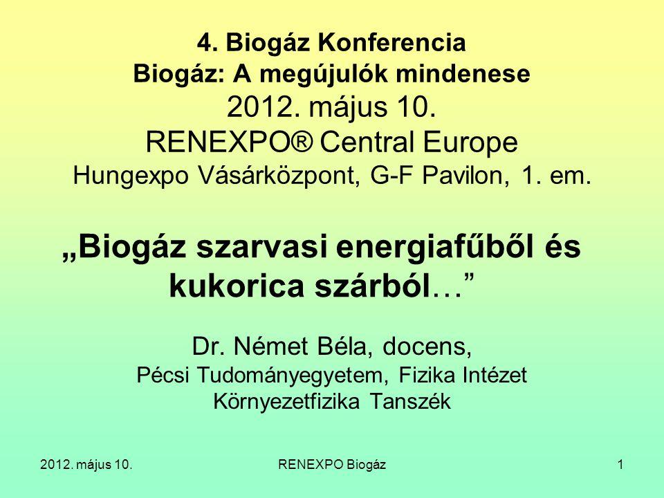 """""""Biogáz szarvasi energiafűből és kukorica szárból…"""