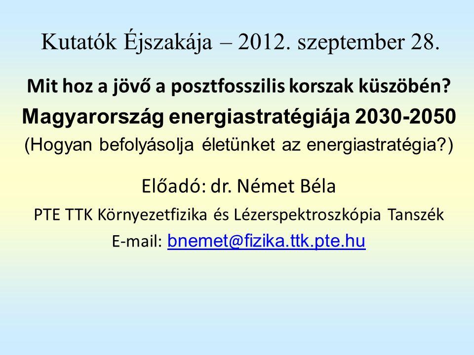 Kutatók Éjszakája – 2012. szeptember 28.