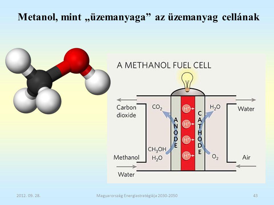 """Metanol, mint """"üzemanyaga az üzemanyag cellának"""