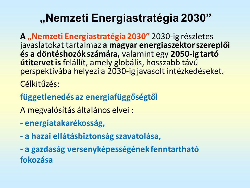 """Nemzeti Energiastratégia 2030"