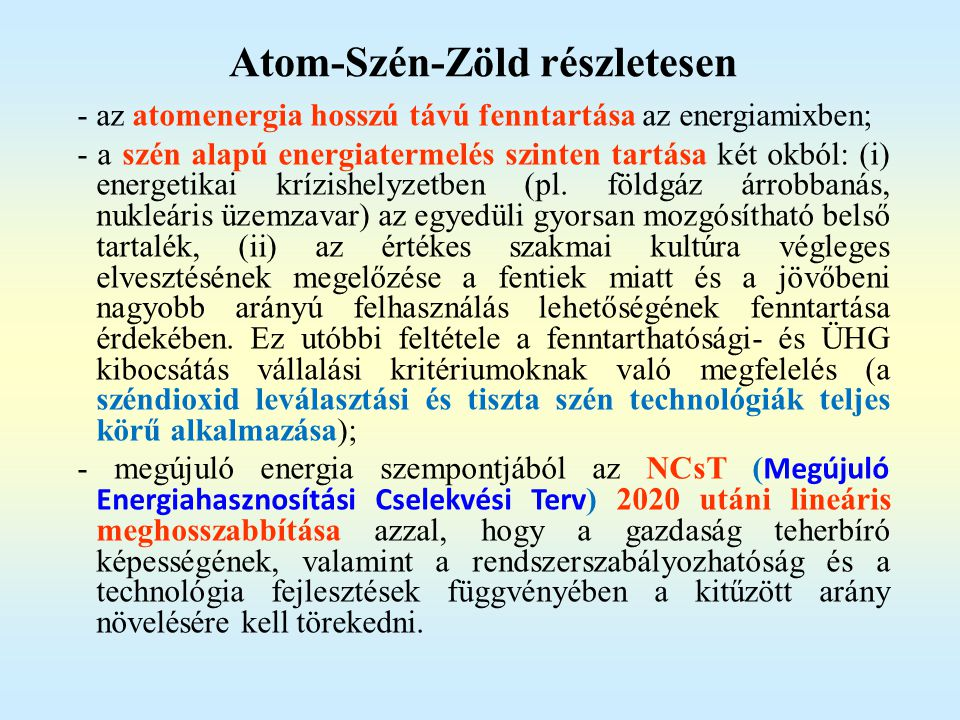 Atom-Szén-Zöld részletesen