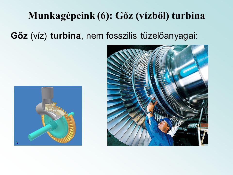 Munkagépeink (6): Gőz (vízből) turbina