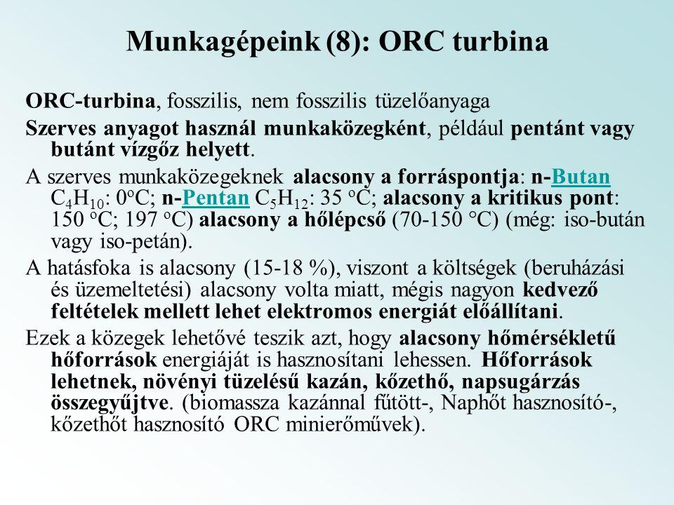 Munkagépeink (8): ORC turbina