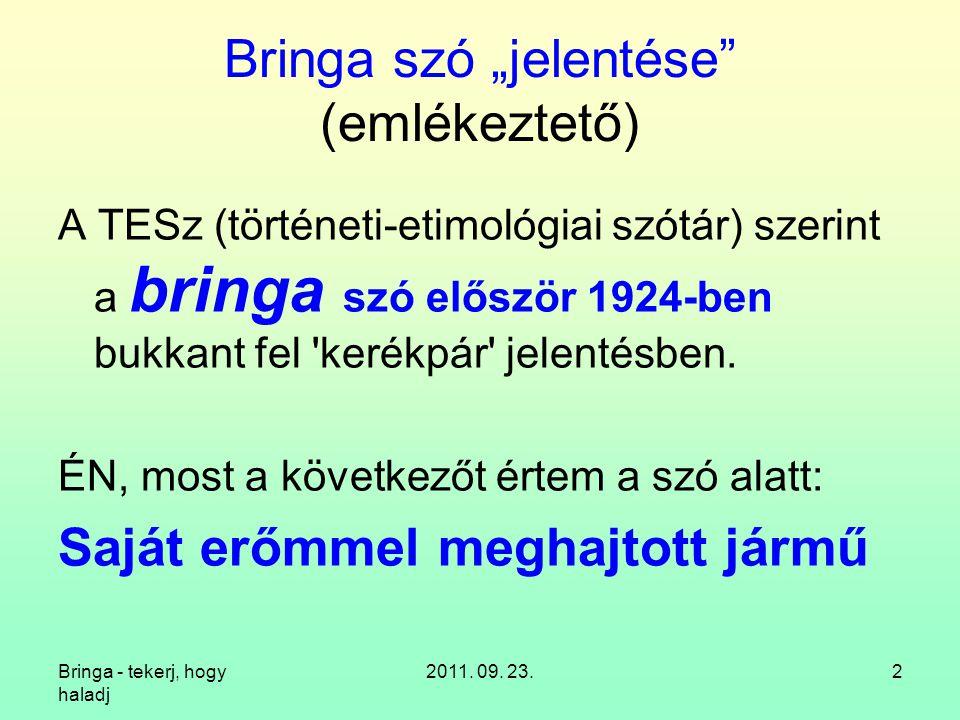 """Bringa szó """"jelentése (emlékeztető)"""