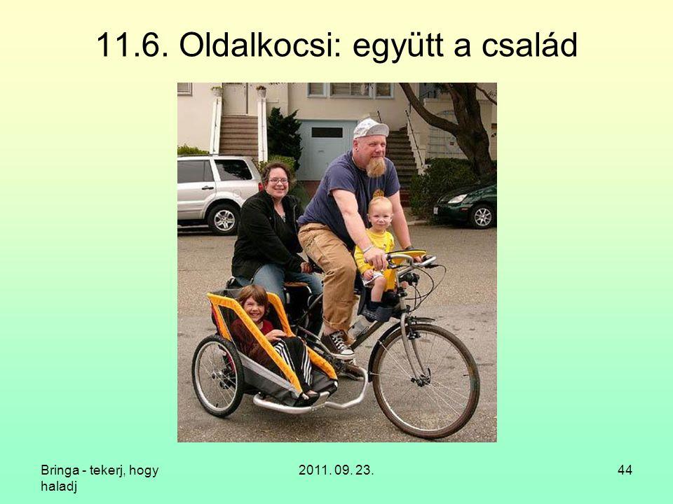 11.6. Oldalkocsi: együtt a család