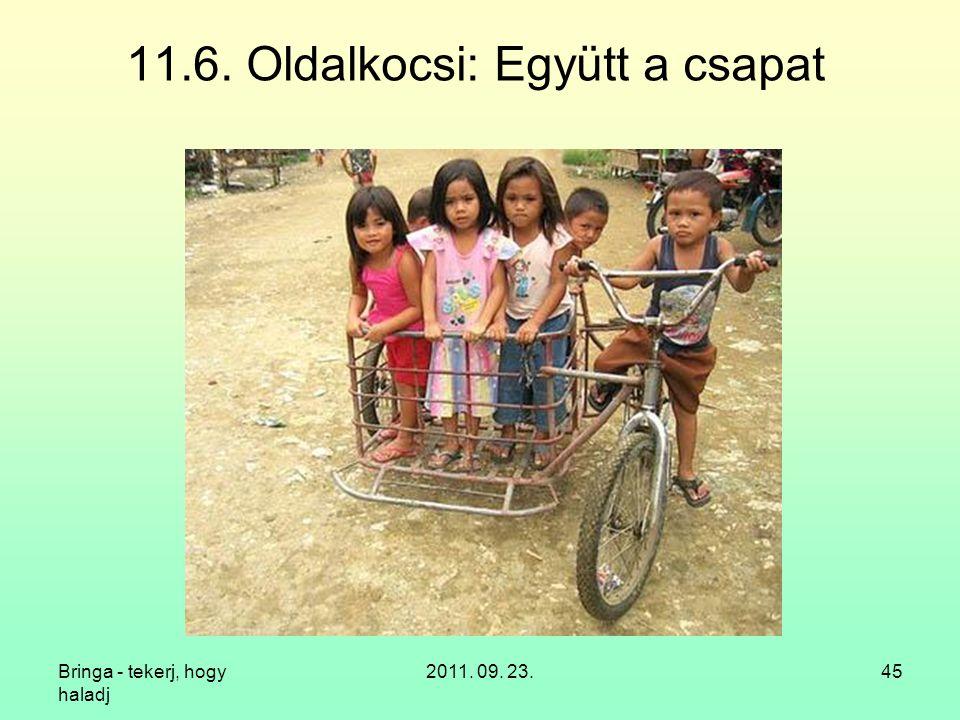 11.6. Oldalkocsi: Együtt a csapat