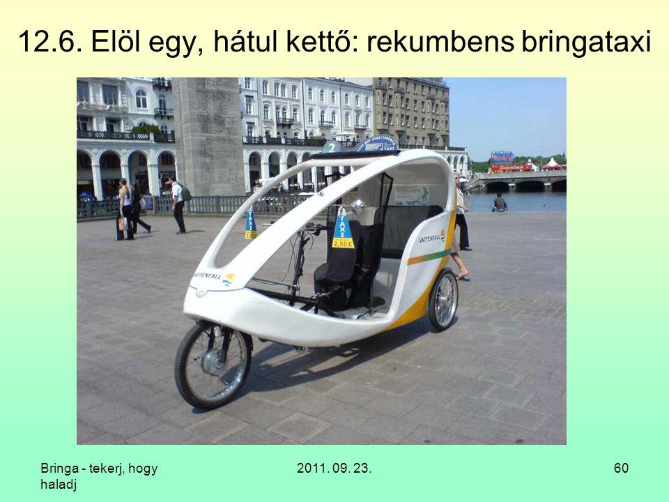 12.6. Elöl egy, hátul kettő: rekumbens bringataxi