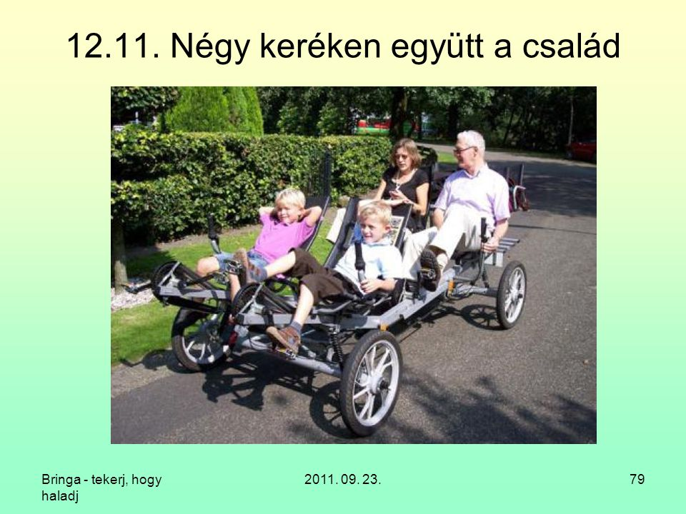12.11. Négy keréken együtt a család