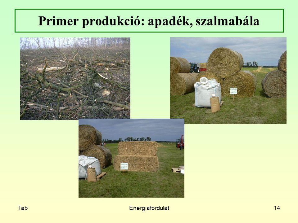 Primer produkció: apadék, szalmabála