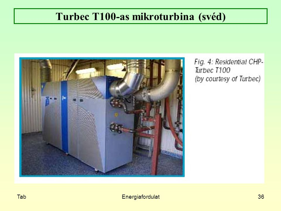 Turbec T100-as mikroturbina (svéd)