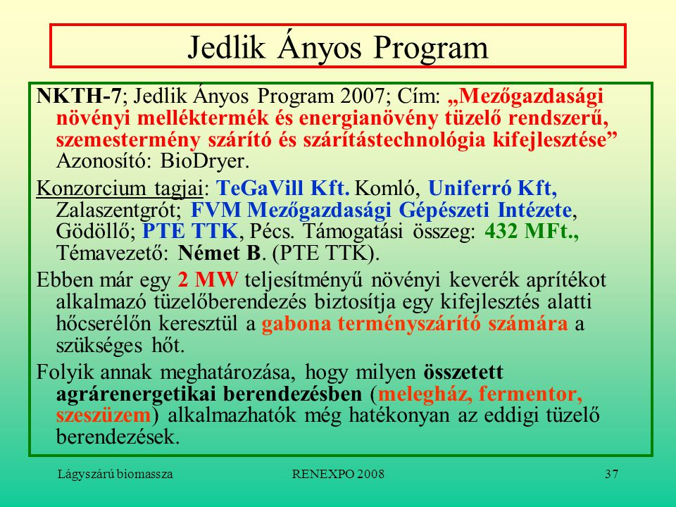 Jedlik Ányos Program