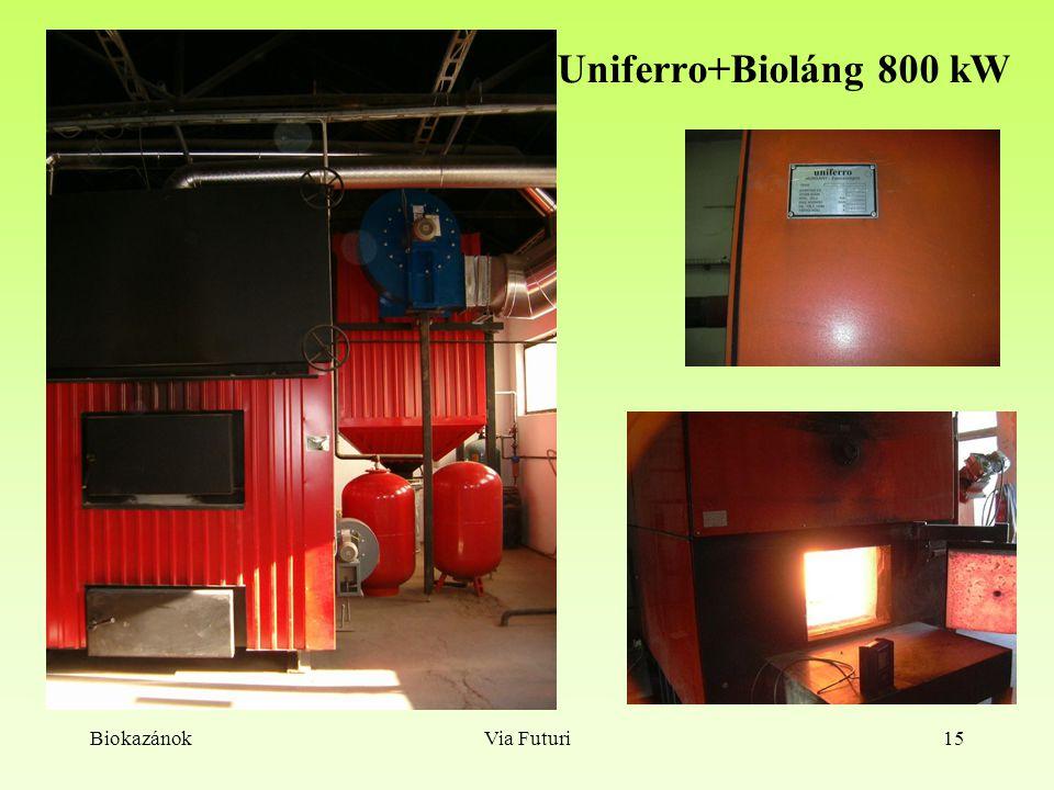 Uniferro+Bioláng 800 kW Biokazánok Via Futuri