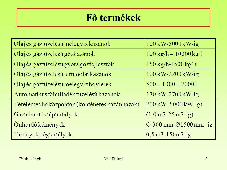 Fő termékek Olaj és gáztüzelésű melegvíz kazánok 100 kW-5000 kW-ig