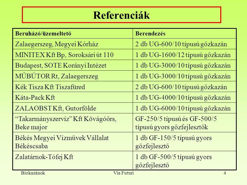Referenciák Zalaegerszeg, Megyei Kórház 2 db UG-600/10 típusú gőzkazán