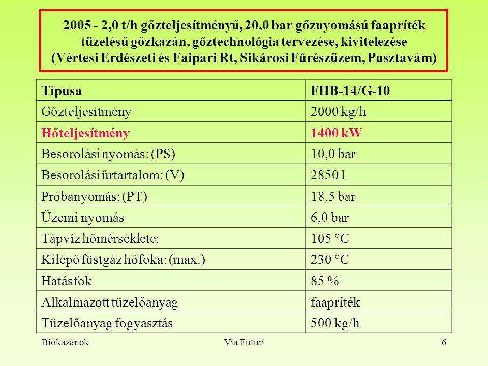 Besorolási nyomás: (PS) 10,0 bar Besorolási űrtartalom: (V) 2850 l