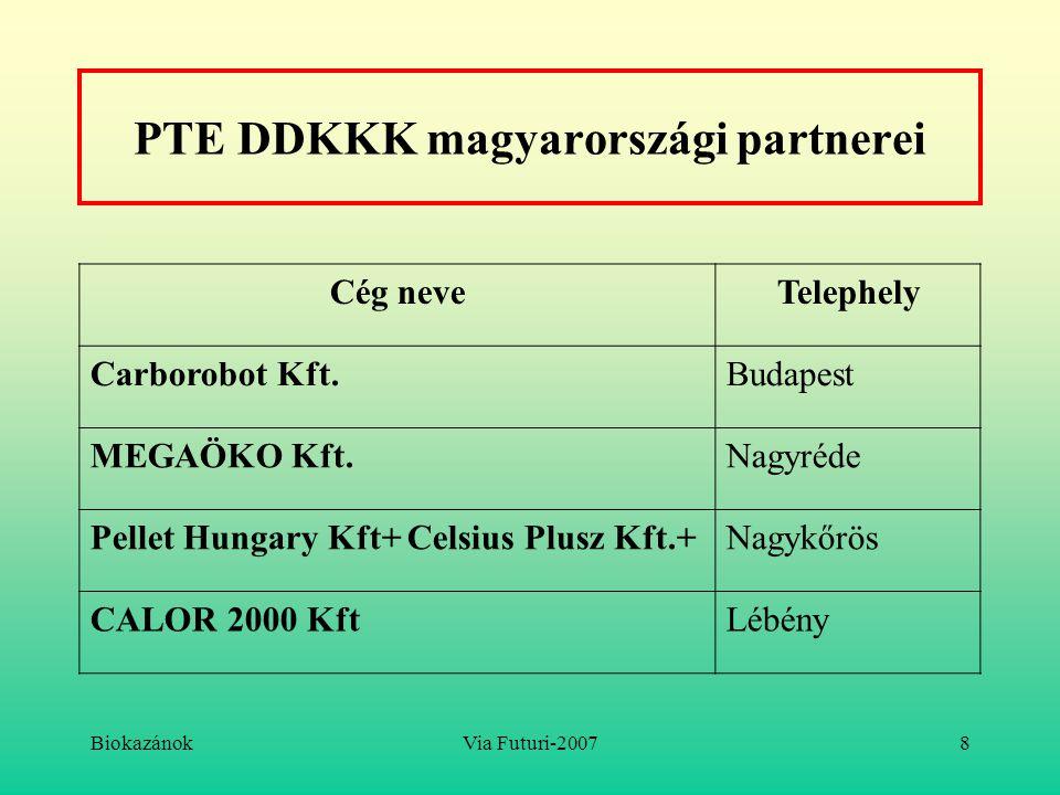PTE DDKKK magyarországi partnerei