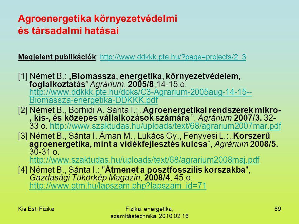 Agroenergetika környezetvédelmi és társadalmi hatásai