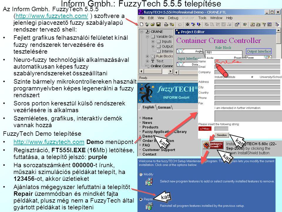 Inform Gmbh.: FuzzyTech 5.5.5 telepítése
