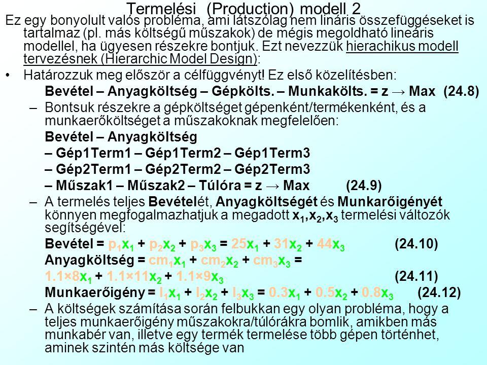 Termelési (Production) modell 2