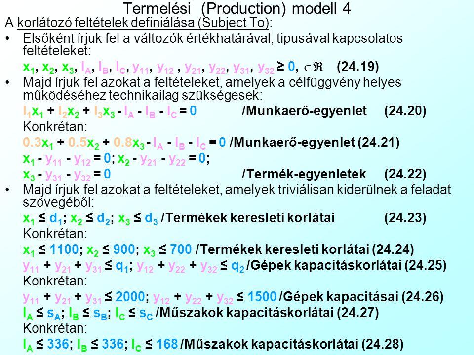 Termelési (Production) modell 4