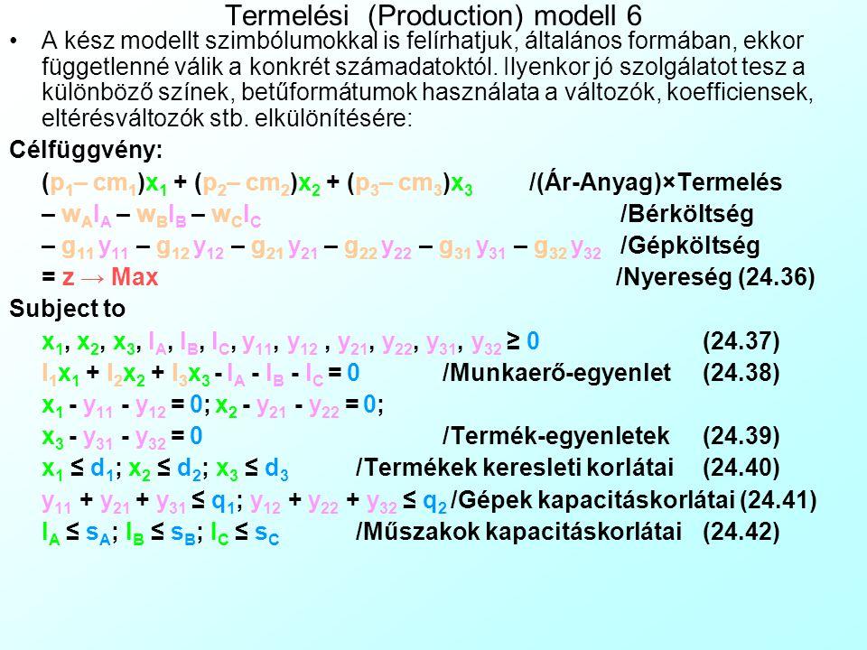 Termelési (Production) modell 6
