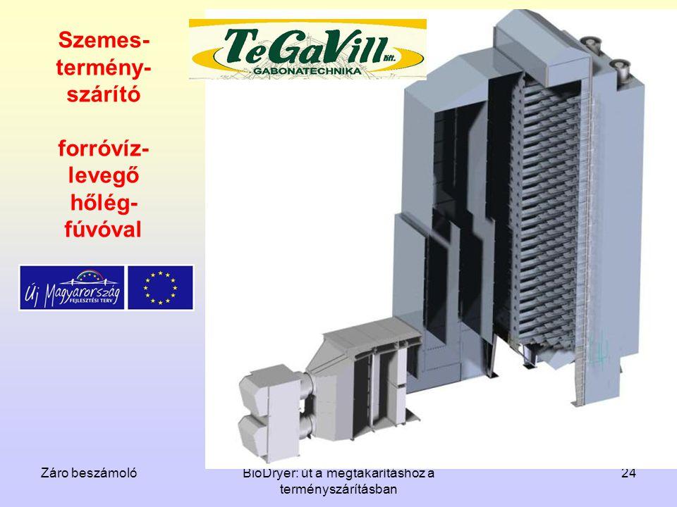 Szemes-termény-szárító forróvíz-levegő hőlég-fúvóval