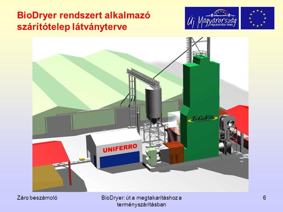 BioDryer rendszert alkalmazó szárítótelep látványterve