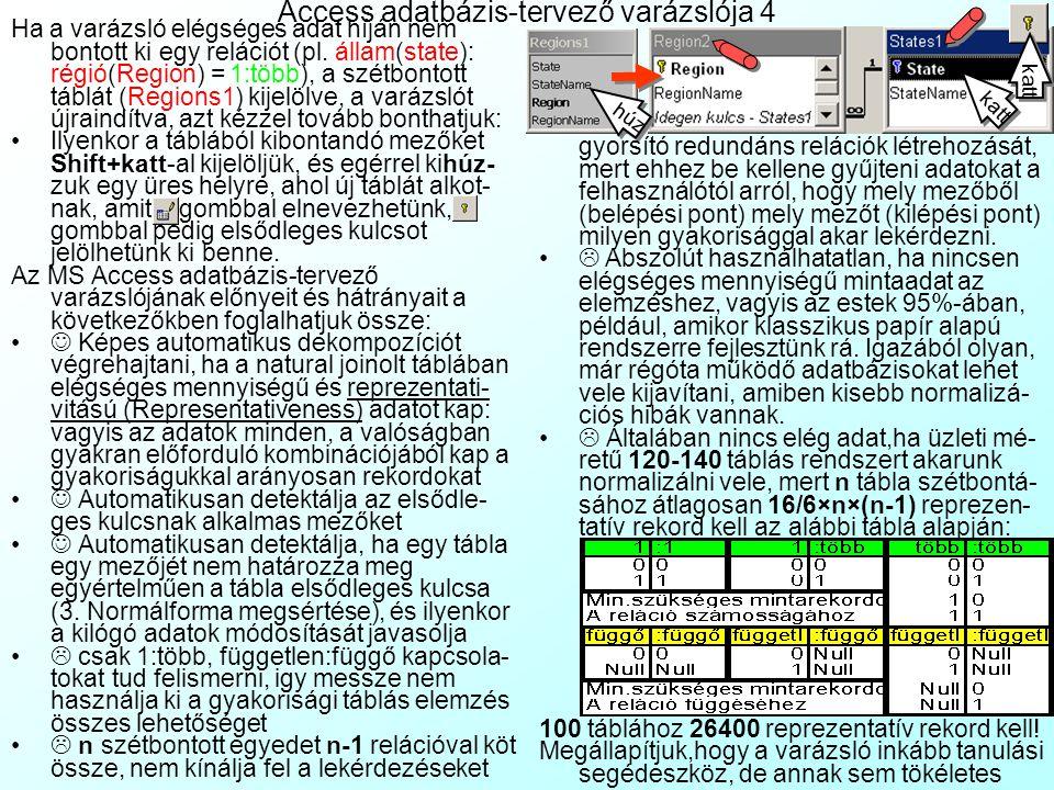 Access adatbázis-tervező varázslója 4