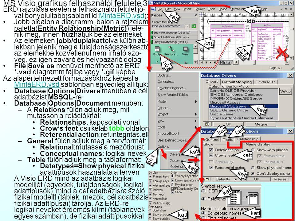 MS Visio grafikus felhasználói felülete 3
