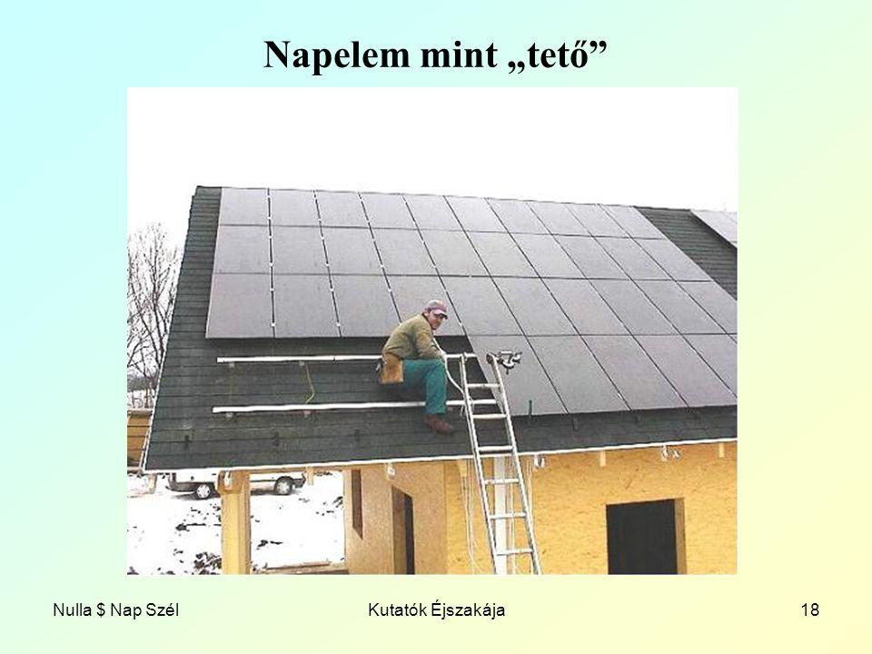 """Napelem mint """"tető Nulla $ Nap Szél Kutatók Éjszakája"""