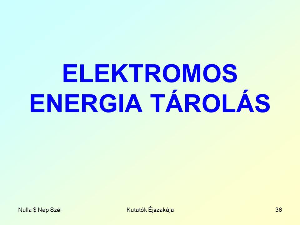 ELEKTROMOS ENERGIA TÁROLÁS