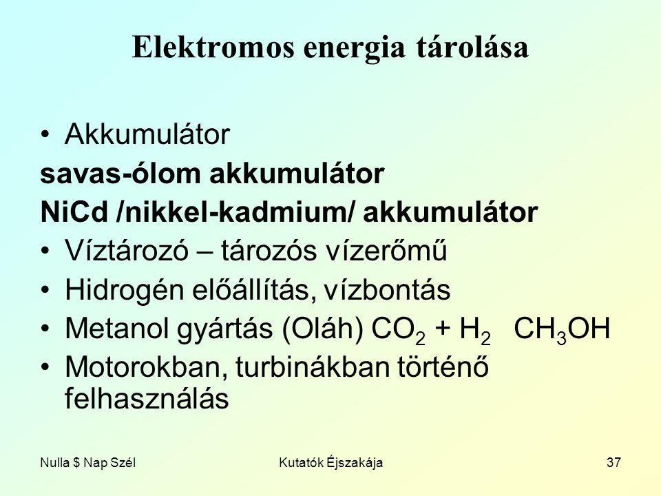 Elektromos energia tárolása