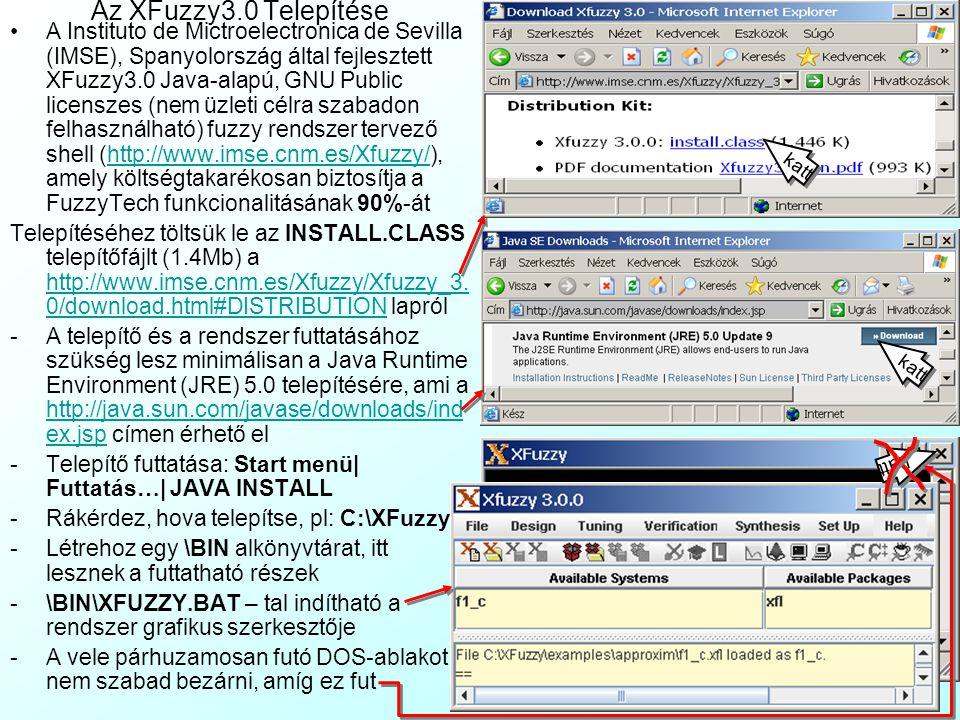 Az XFuzzy3.0 Telepítése