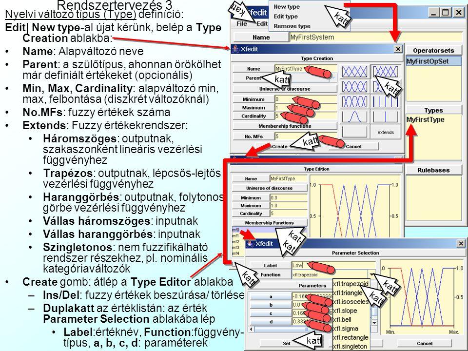 Rendszertervezés 3 Nyelvi változó típus (Type) definíció: