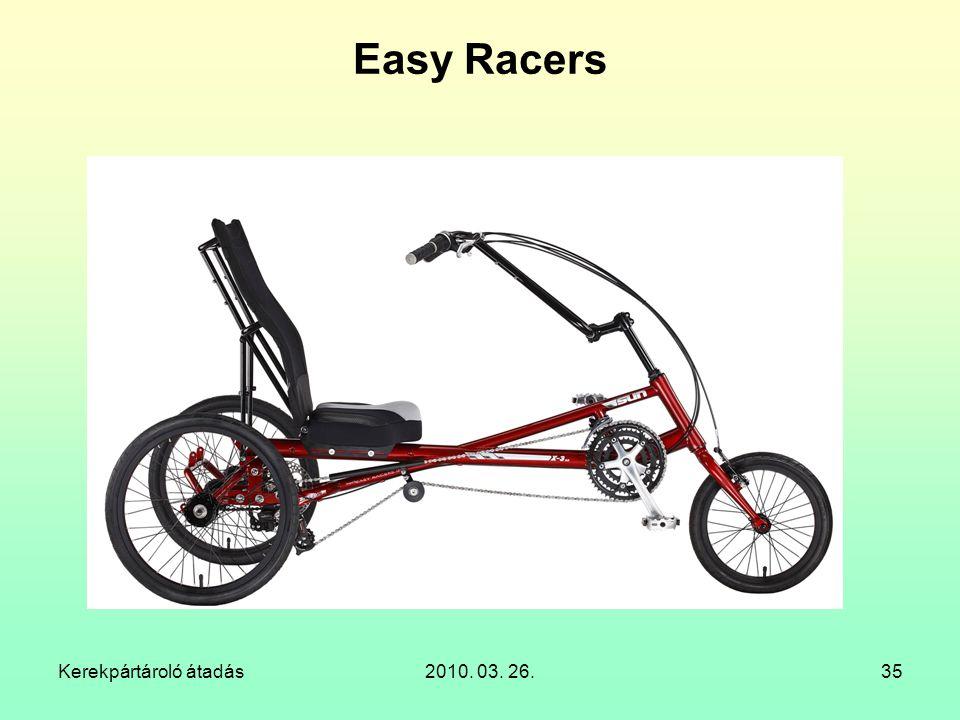 Easy Racers Kerekpártároló átadás 2010. 03. 26.