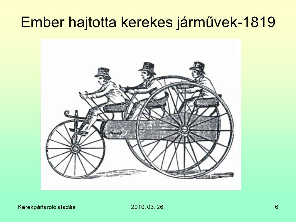 Ember hajtotta kerekes járművek-1819