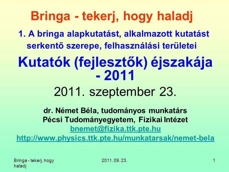 Kutatók (fejlesztők) éjszakája - 2011
