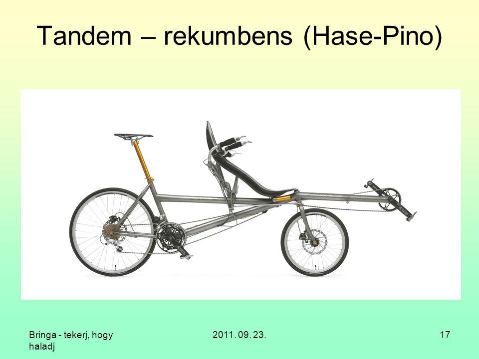 Tandem – rekumbens (Hase-Pino)