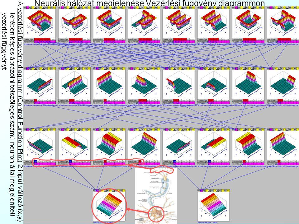 Neurális hálózat megjelenése Vezérlési függvény diagrammon
